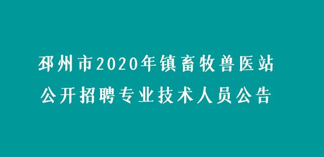 邳州市2020年镇畜牧兽医站公开招聘专业技术人员公告.jpg
